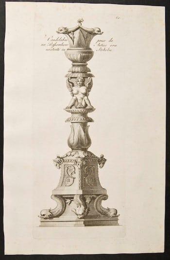 Carlo Antonini, candelabra, 18th century art, Roman art, business art