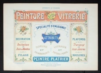 L. Durand, French sign, vintage French sign, vintage sign, business art