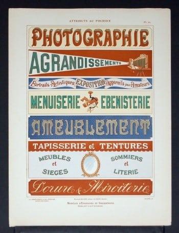 L. Durand, French art, vintage French art, vintage sign, business art