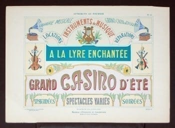 L. Durand, vintage sign, French sign, vintage gambling, business art, vintage art