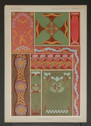 Gustav Kolb, ornamental art, interior design, architecture, business art