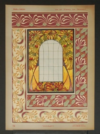 Gustav Kolb, ornamental art, architecture, interior design, business art