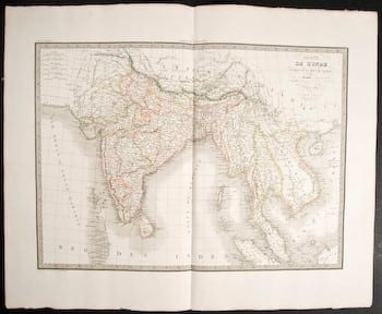 Pierre M. Lapie, French cartographer, old map, world history, world map, original map, business art