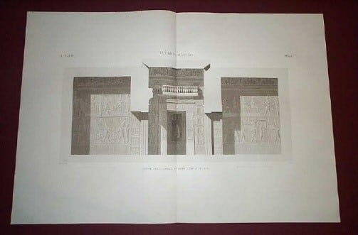 Napoleon, Napoleans art, Thebes, ancient Egypt, Egyptian architecture, copperplate engravings, business art, architecture