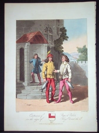 Charles Hamilton Smith, ancient British costumes, middle ages clothing, European dress, costume art, business art