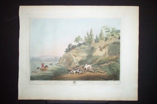 Captain Thomas Williamson, beach art, hunting dogs, business art